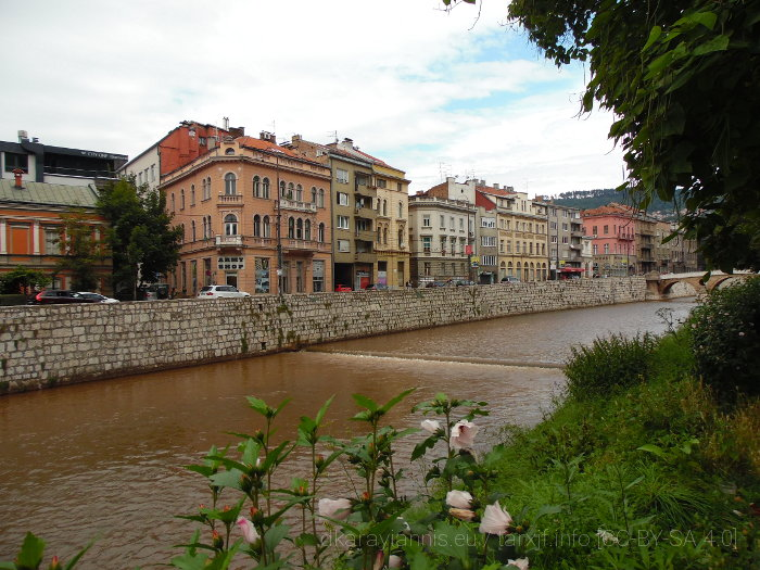 Photo of the Miljacka River, Sarajevo 2018